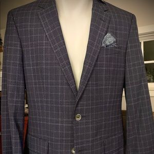 HUGO BOSS Blue PLAID HUTSONS Blazer BNWT